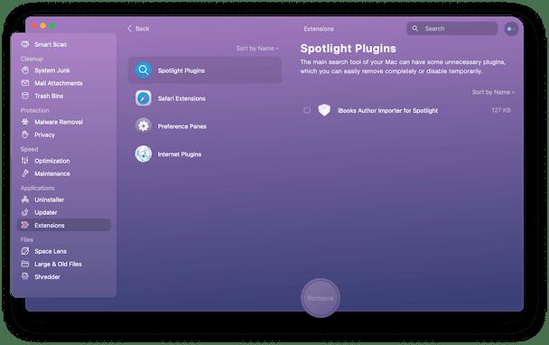 Spotlight plugins in Extensions module of CMMX