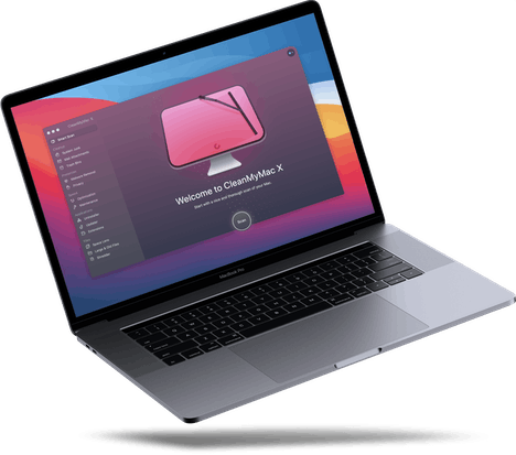 Laptop with CleanMyMac